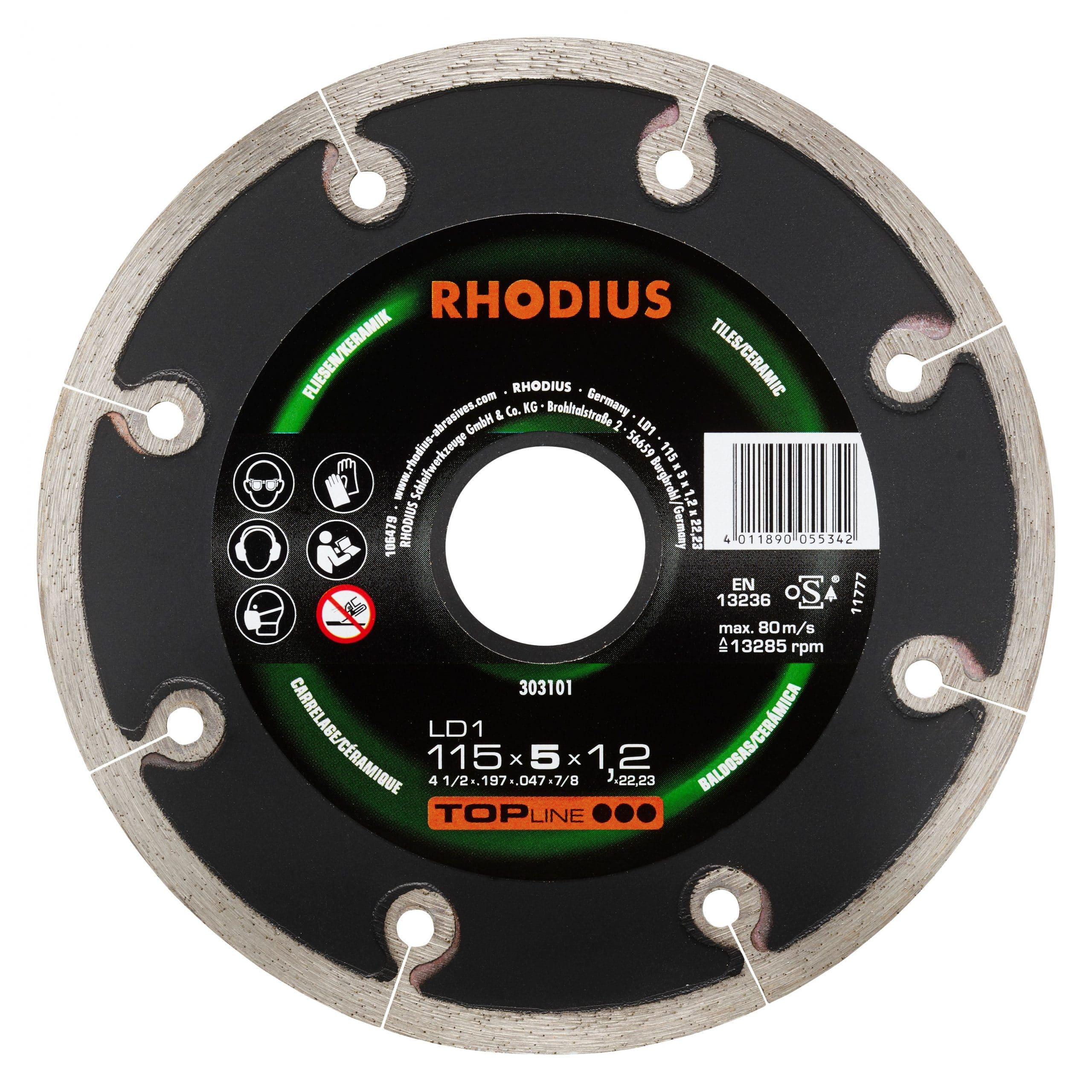 Rhodius LD1 diamantschijf 115mmx5x1.2 303101