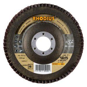 Rhodius LGZ F1 Lamellenschijf Vlak 125mm K40 202820