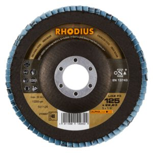 Rhodius LGZ F3 Lamellenschijf 125mm Vlak K40 210697